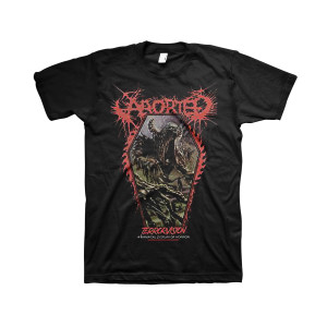 Aborted - TerrorVision Coffin - Black T-Shirt