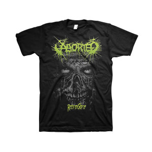 Aborted - Retrogore Skull - Black T-Shirt