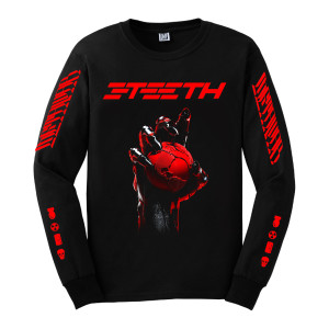 3TEETH - METAWAR Long Sleeve Black T-shirt
