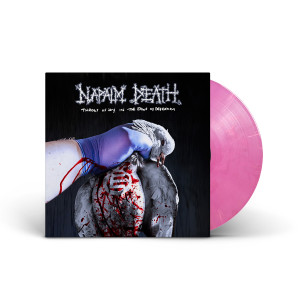 Napalm Death - Throes of Joy in the Jaws of Defeatism Bloated Corpulent Pink Swirl LP + Poster + Digital Download