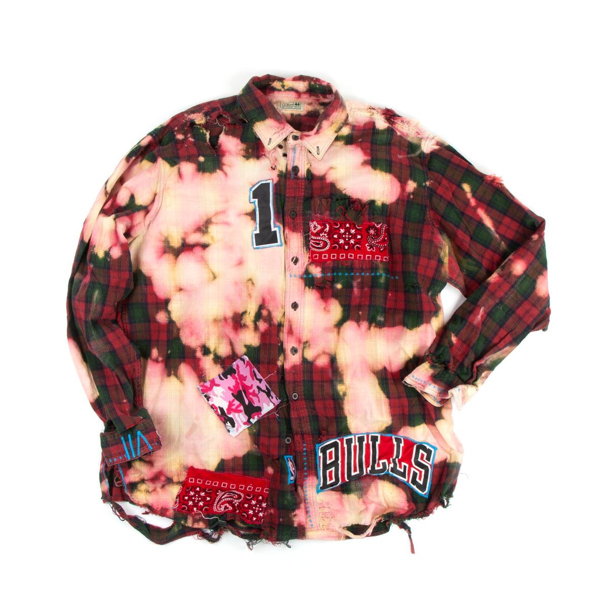 Flannel Bulls Button-up (2XL)