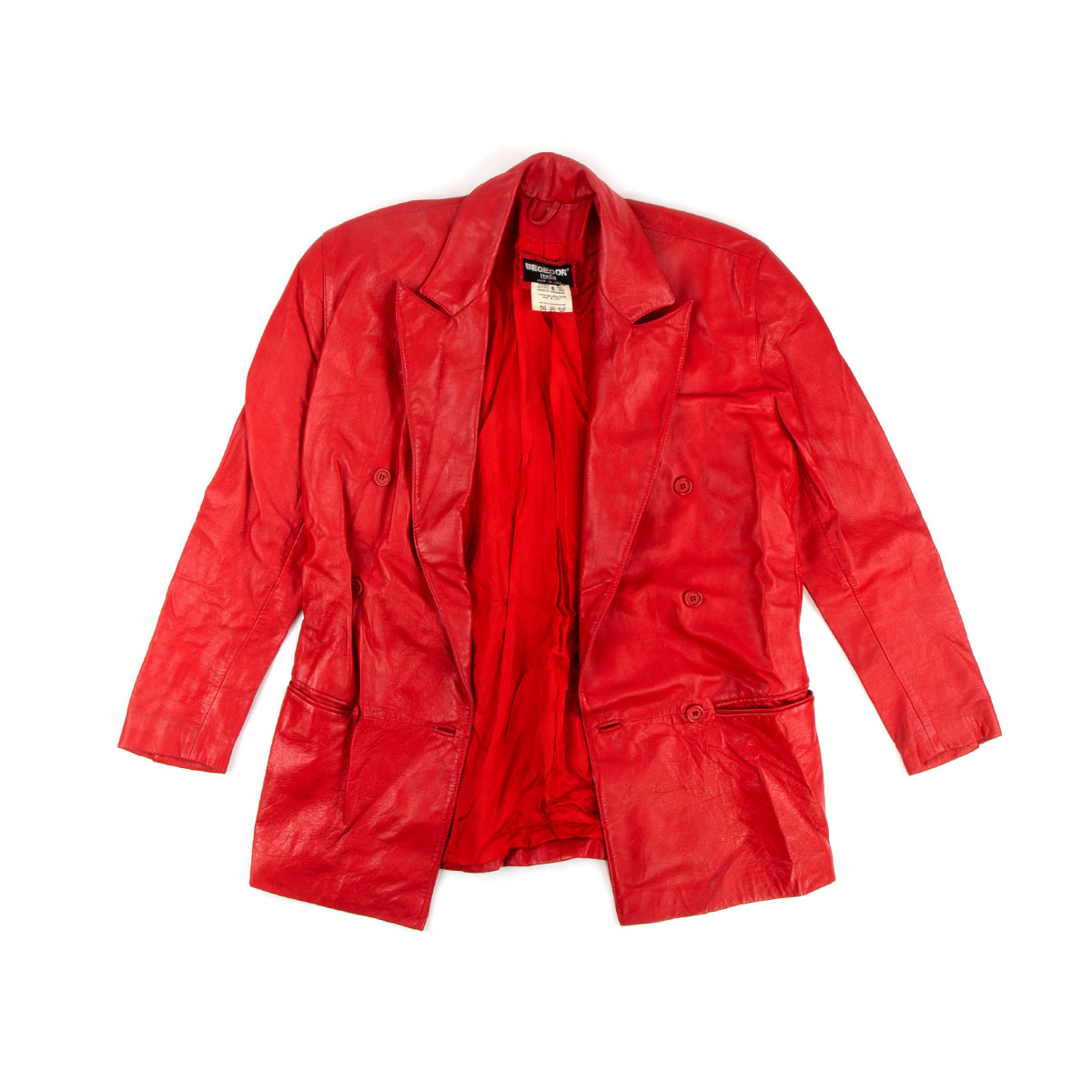 Red Leather Jacket (Size 6)