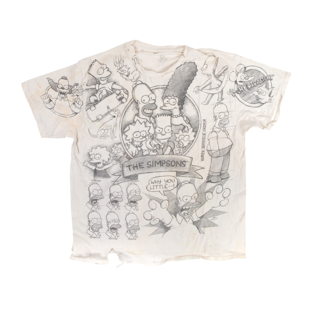 The Simpsons Sketch Tee (XL)