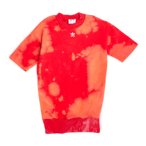 Red Adidas Short Sleeve Sweatshirt (M)