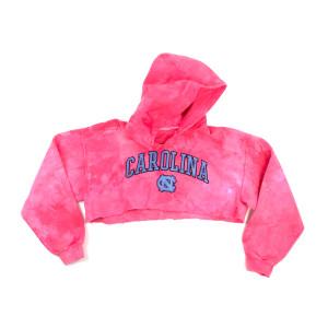Pink Carolina Crop Hoodie (M)