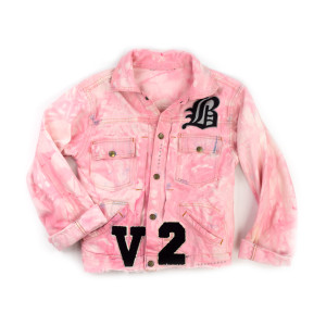 Pink Denim Daisy Jacket (S)