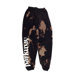 Black Bleached Parkway Sweats (S)