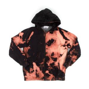 Bleached Zip Up Hoodie (XL)