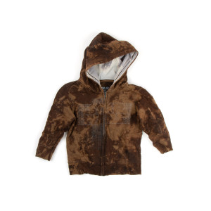 Brown Kids Star Woods Hoodie (4T)