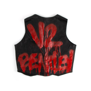 V2 Black Leather Vest (L)