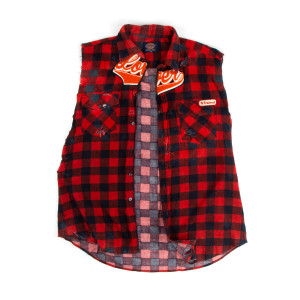 Red Check Vest Shirt (2XL)