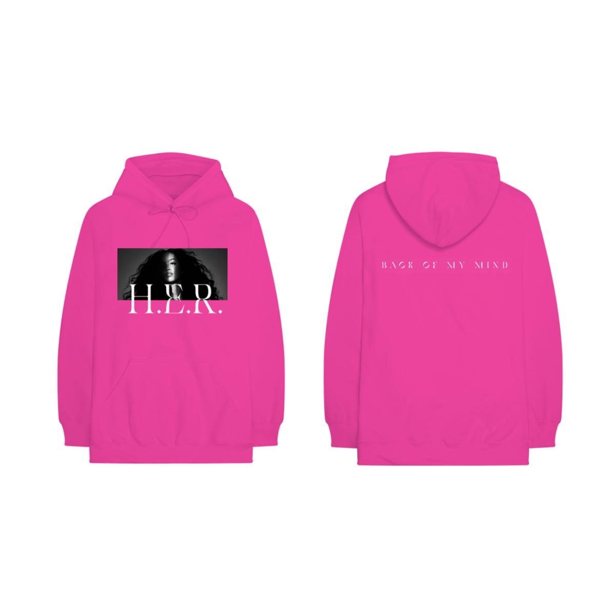 Back Of My Mind Album Photo Pink Hoodie