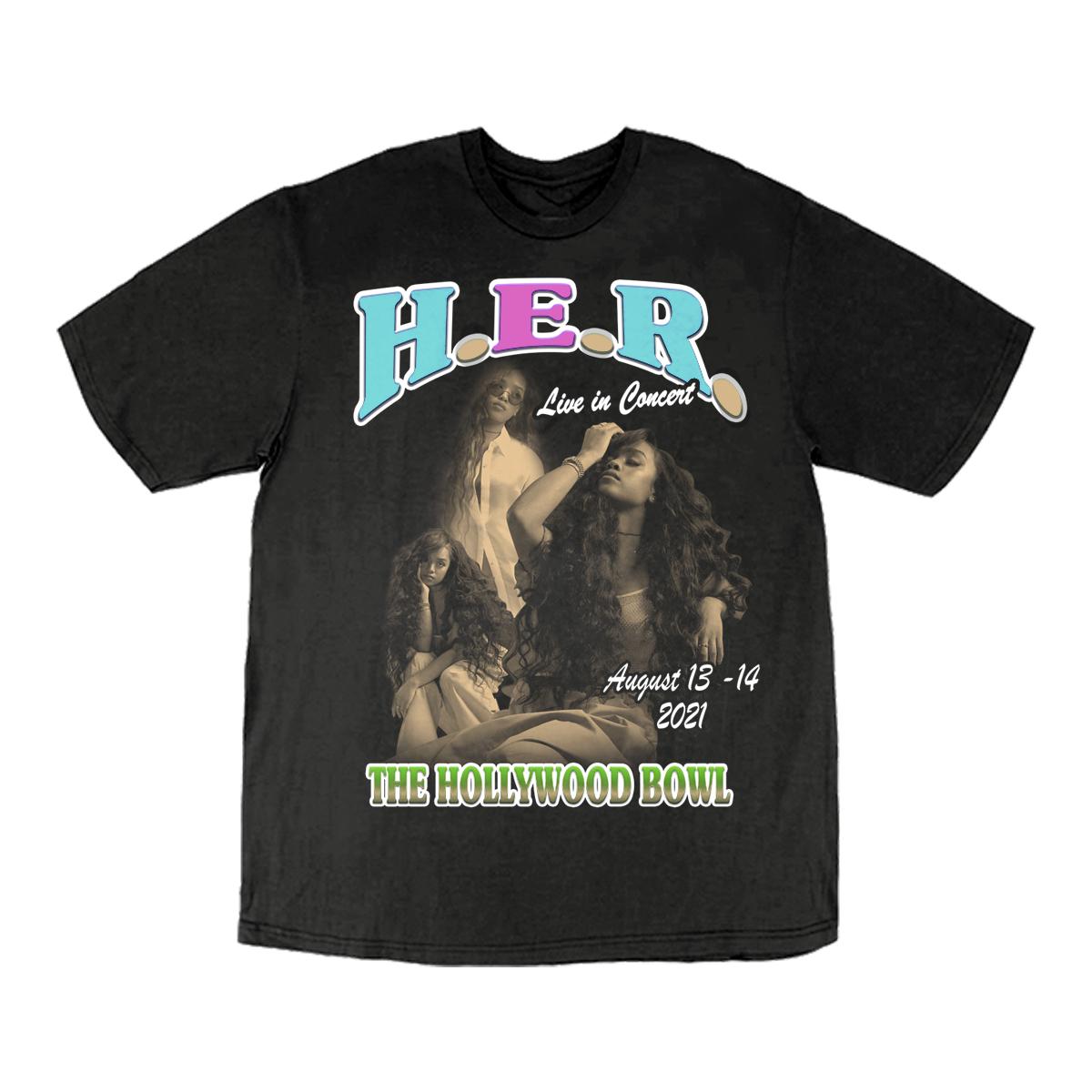Hollywood Bowl Black T-Shirt
