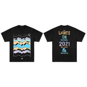 Lights On Festival Landscape Black T-Shirt