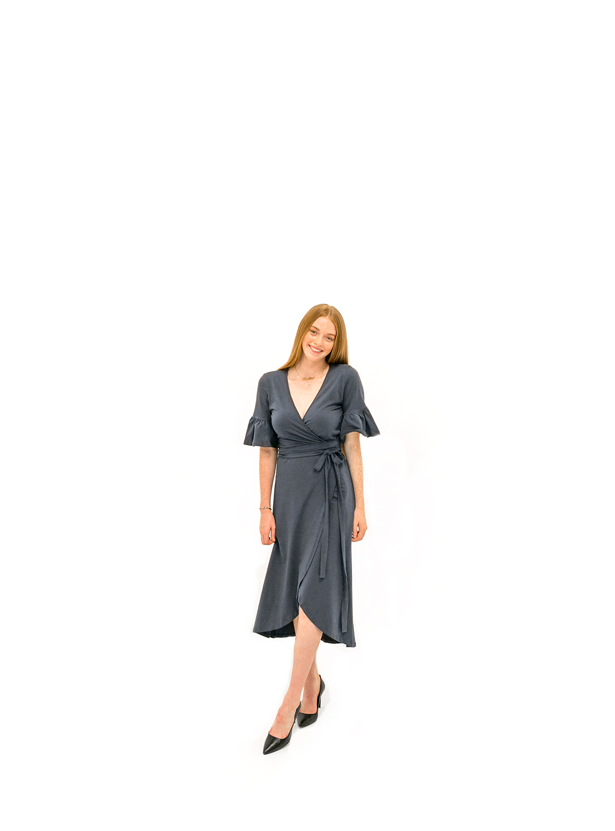 The Danielle Dress - Indigo