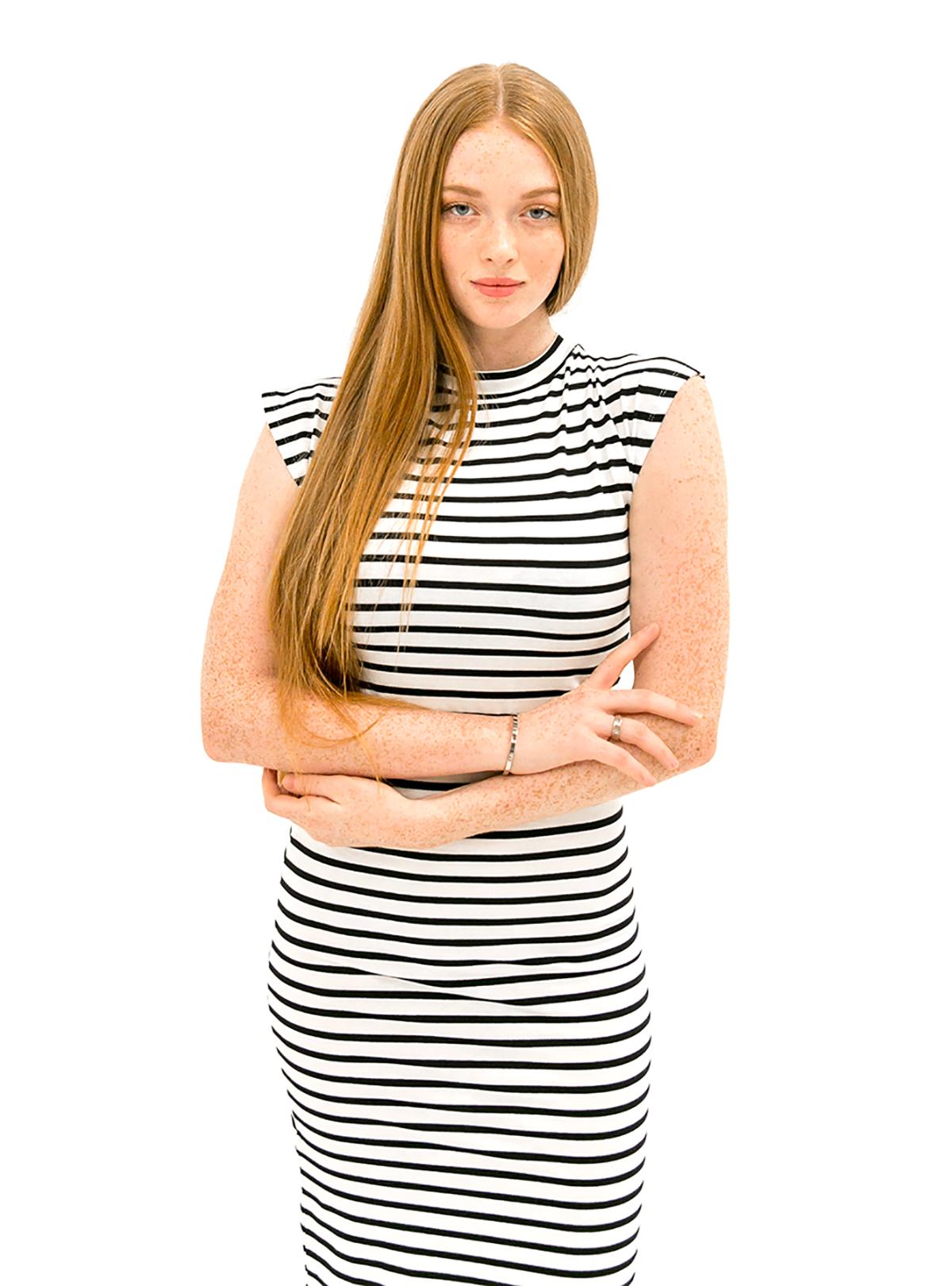 The Caitlin Dress - Black/White Stripe