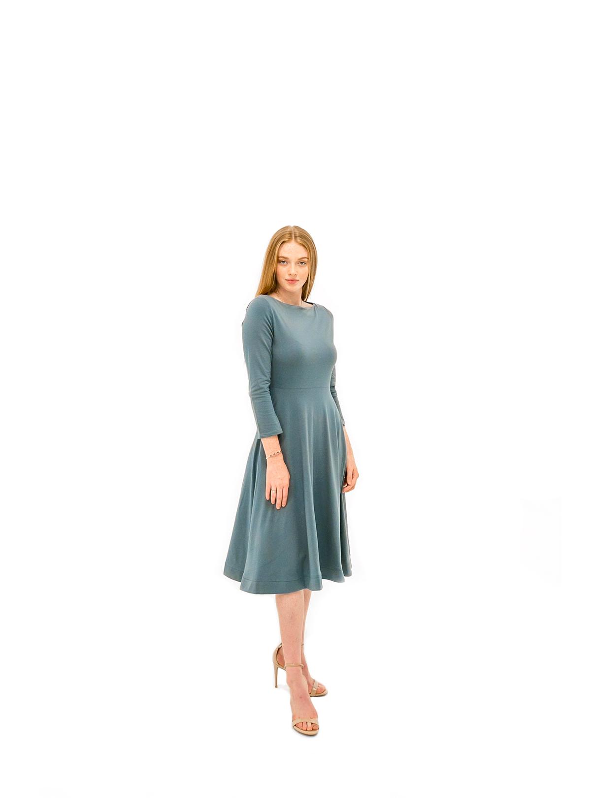 The Jennifer Dress - Blue Slate