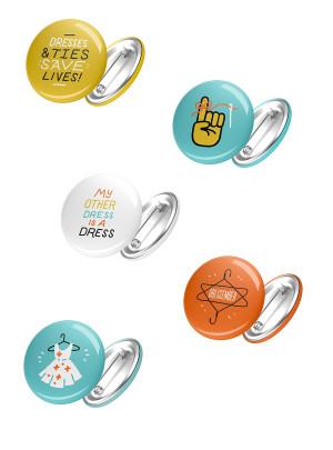 "Dressember 1"" Buttons (Five Pack)"