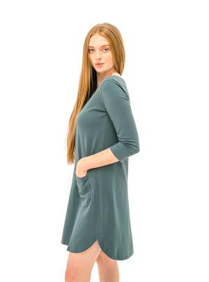 The Anna Dress - Midnight Teal