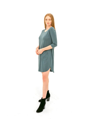 The Anna Dress - Midnight Teal