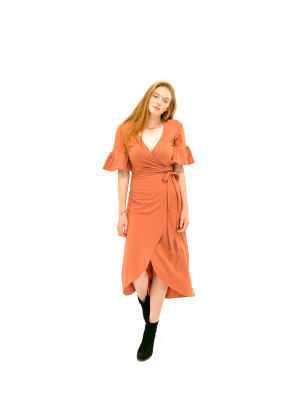 The Danielle Dress - Clay Red