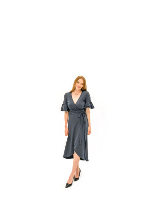 The Danielle Dress - Indigo