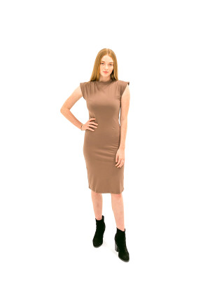 The Caitlin Dress - Taupe