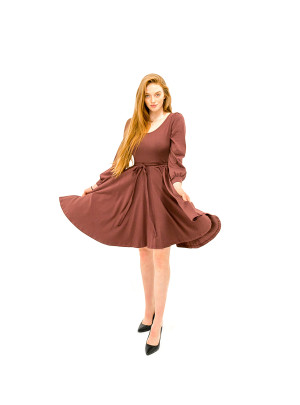 *Sold Out* The Jes Dress - Aubergine