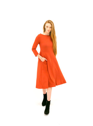 The Jennifer Dress - Ruby Red