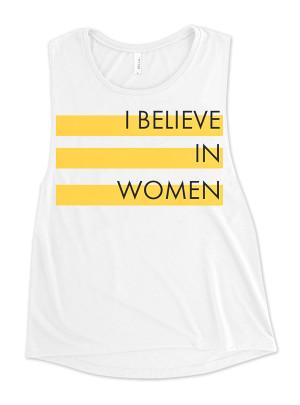 """Dressember """"I Believe In Women"""" Women's Tank"""