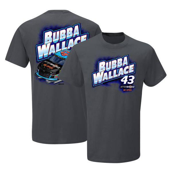 Small Premium Heather NASCAR Richard Petty Motorsports Bubba Wallace Womens W Tri Blend ScoopW Tri Blend Scoop