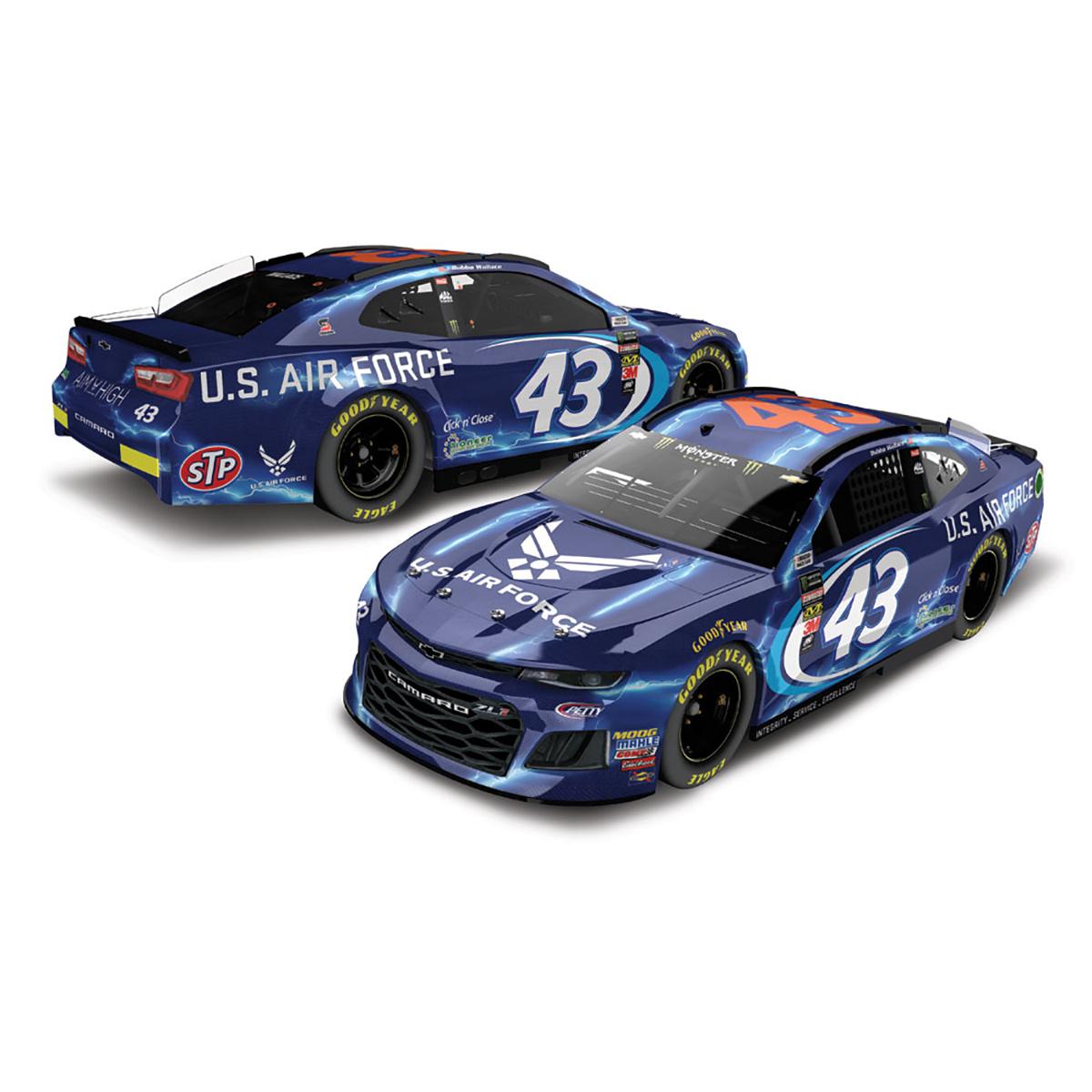 Bubba Wallace 2018 NASCAR #43 1:24 Elite Air Force Camaro