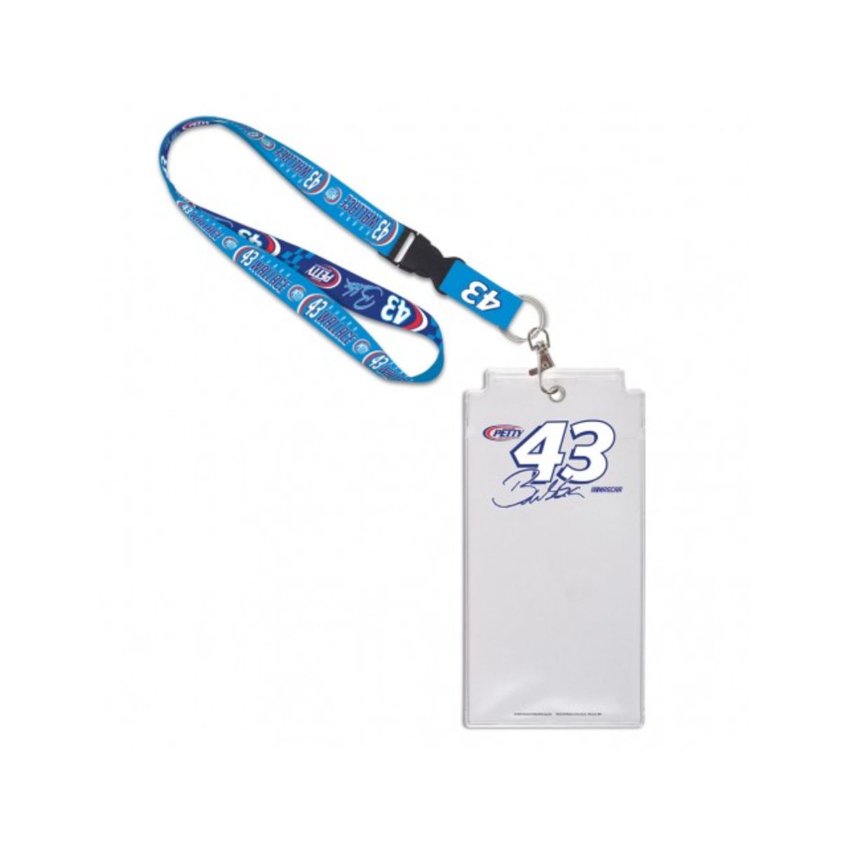 Bubba Wallace #43 2020 Credential Holder with Lanyard
