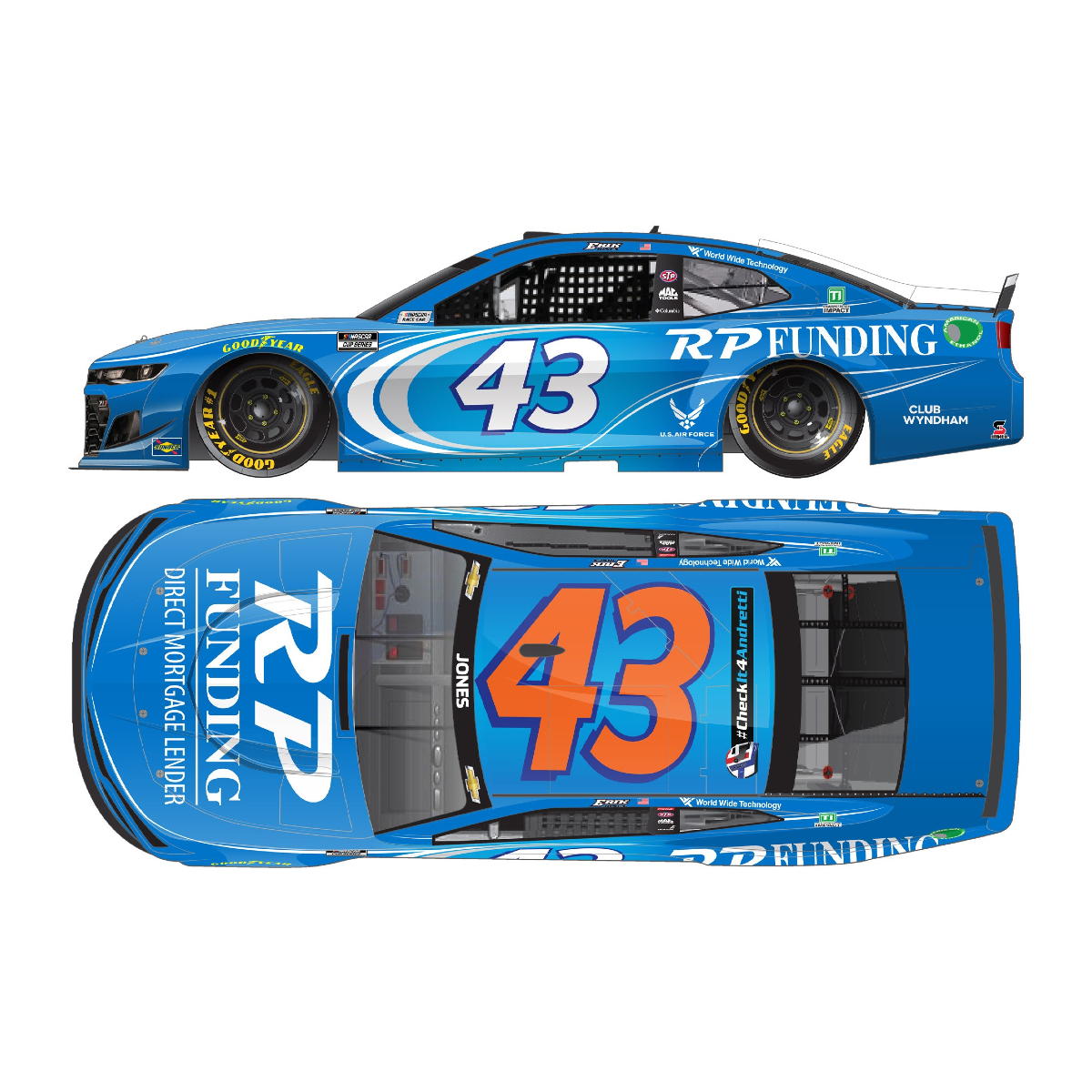 Erik Jones #43 2021 RP Funding 1:24 HO Die-Cast