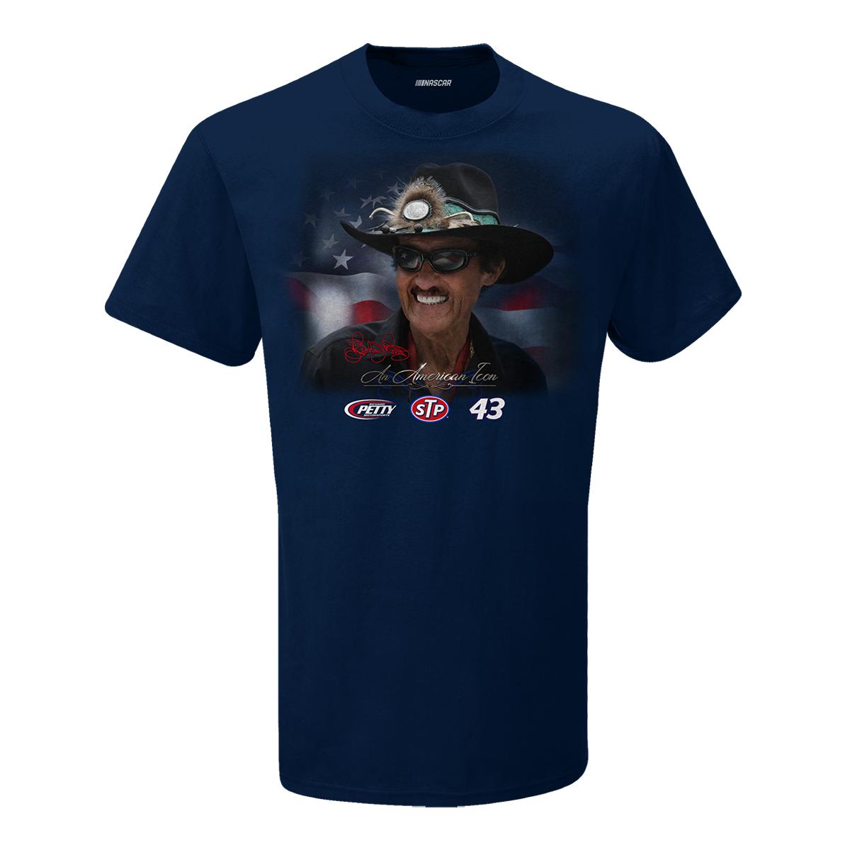 Richard Petty - An American Icon Blue Patriotic T-shirt