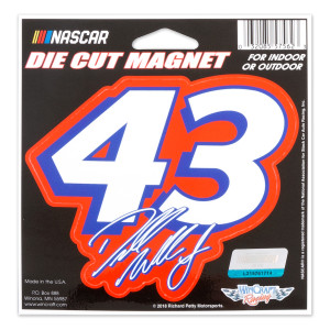 #43 NASCAR Bubba Wallace Die Cut Number Magnet