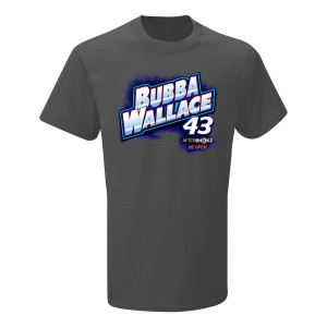 2019 NASCAR #43 Bubba Wallace Aftershokz Grey T-shirt
