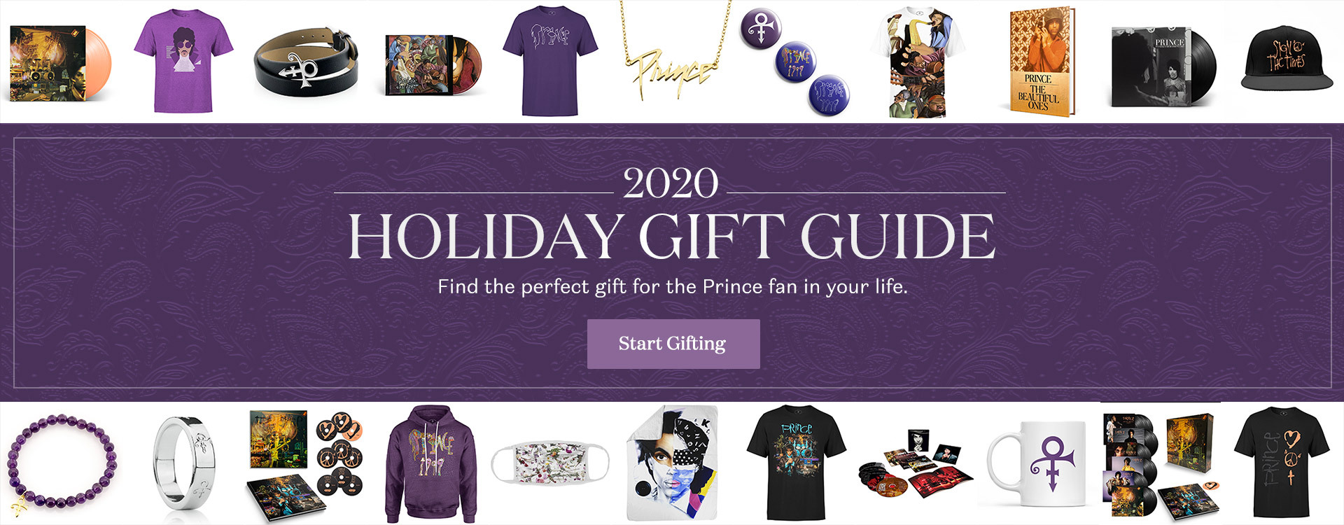 2020 Holiday Gift Guide - Find the perfect gift for the Prince fan in your life. Start Gifting!