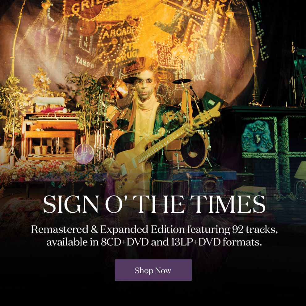 Shop Sign O' The Times Remastered Edition and New Sign O' The Times Merchandise