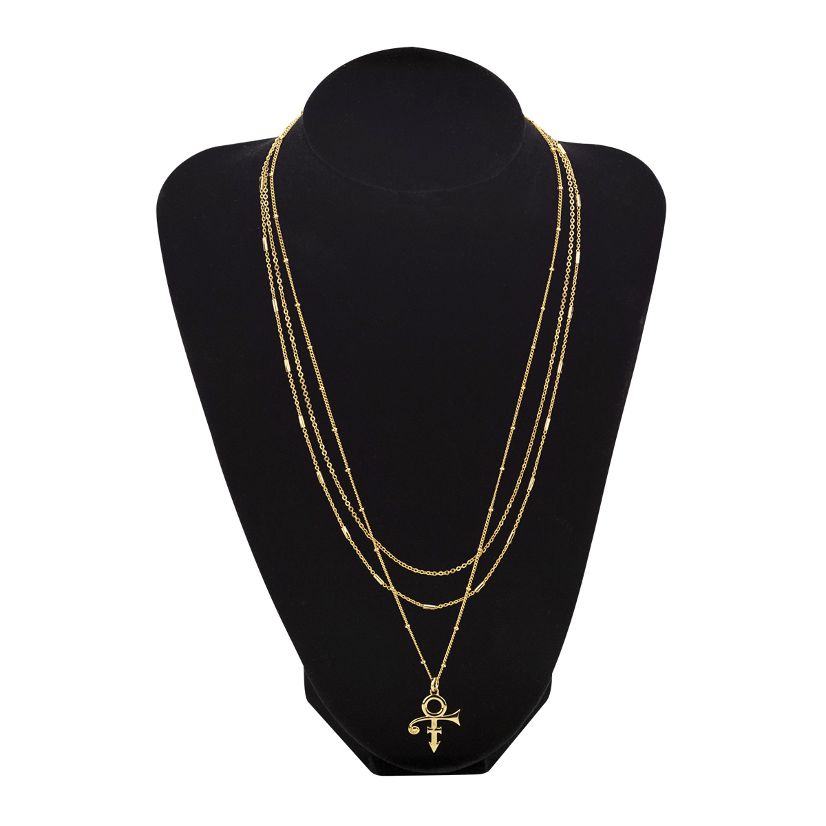 3-Tier Prince Symbol Necklace [Gold]
