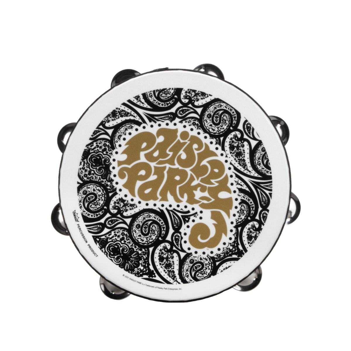 Black & White Paisley Tambourine