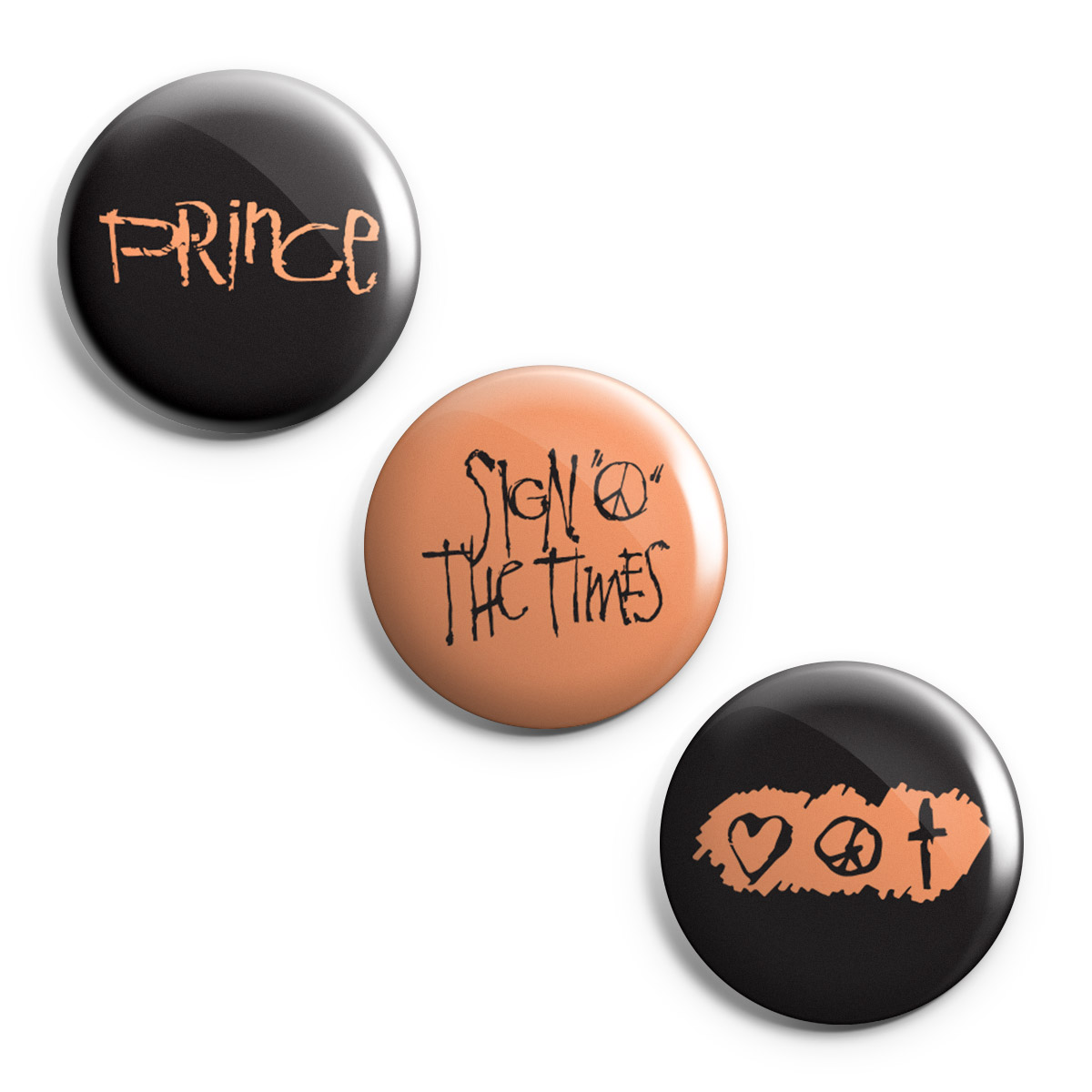 Sign O' The Times Button Set (3-pack)