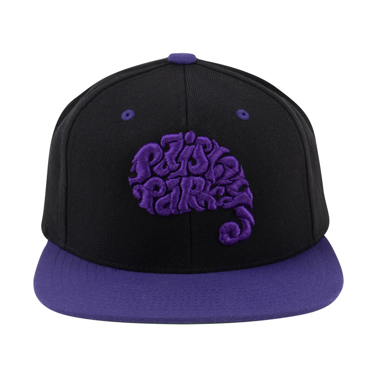 Paisley Park Logo Snapback Hat (Black and Purple)