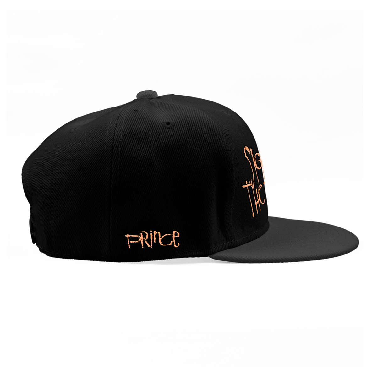 Sign O' The Times Snapback Hat (Peach brim)