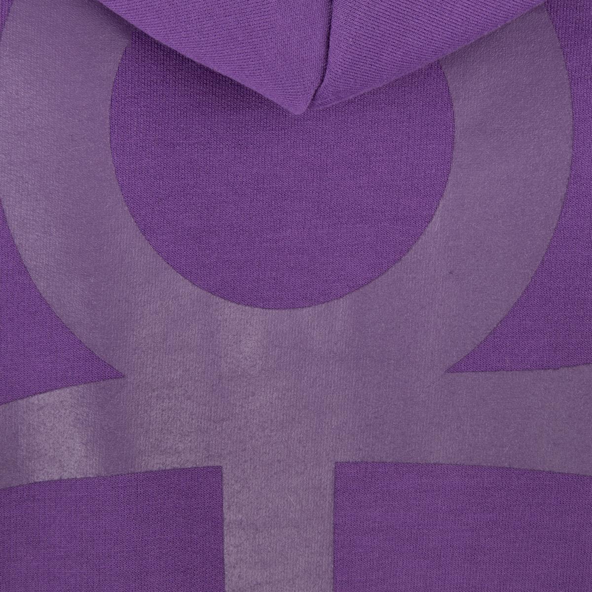 Prince Symbol Zip Hoodie with Purple Paisley Lining