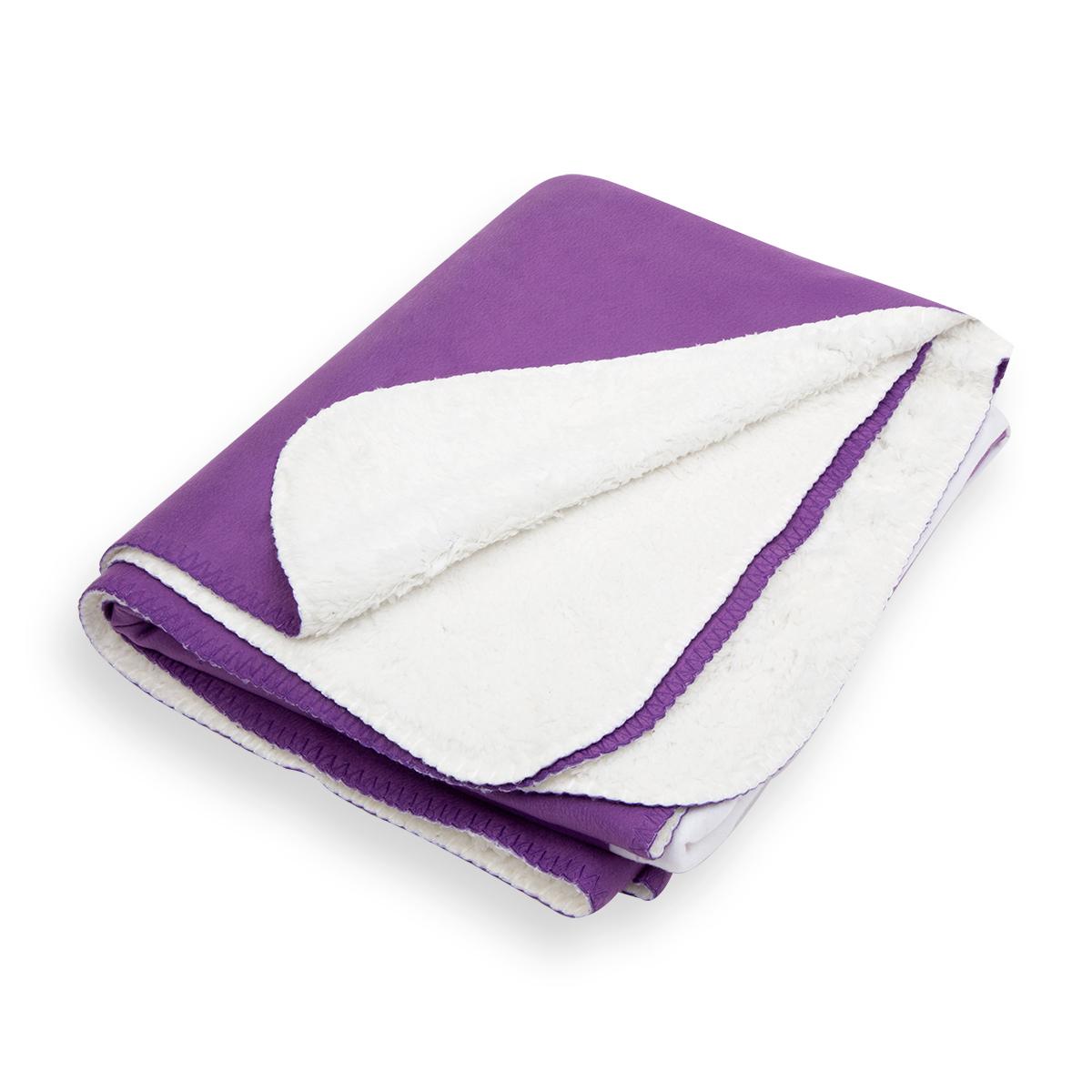 Purple & White Prince Symbol - Sherpa Blanket