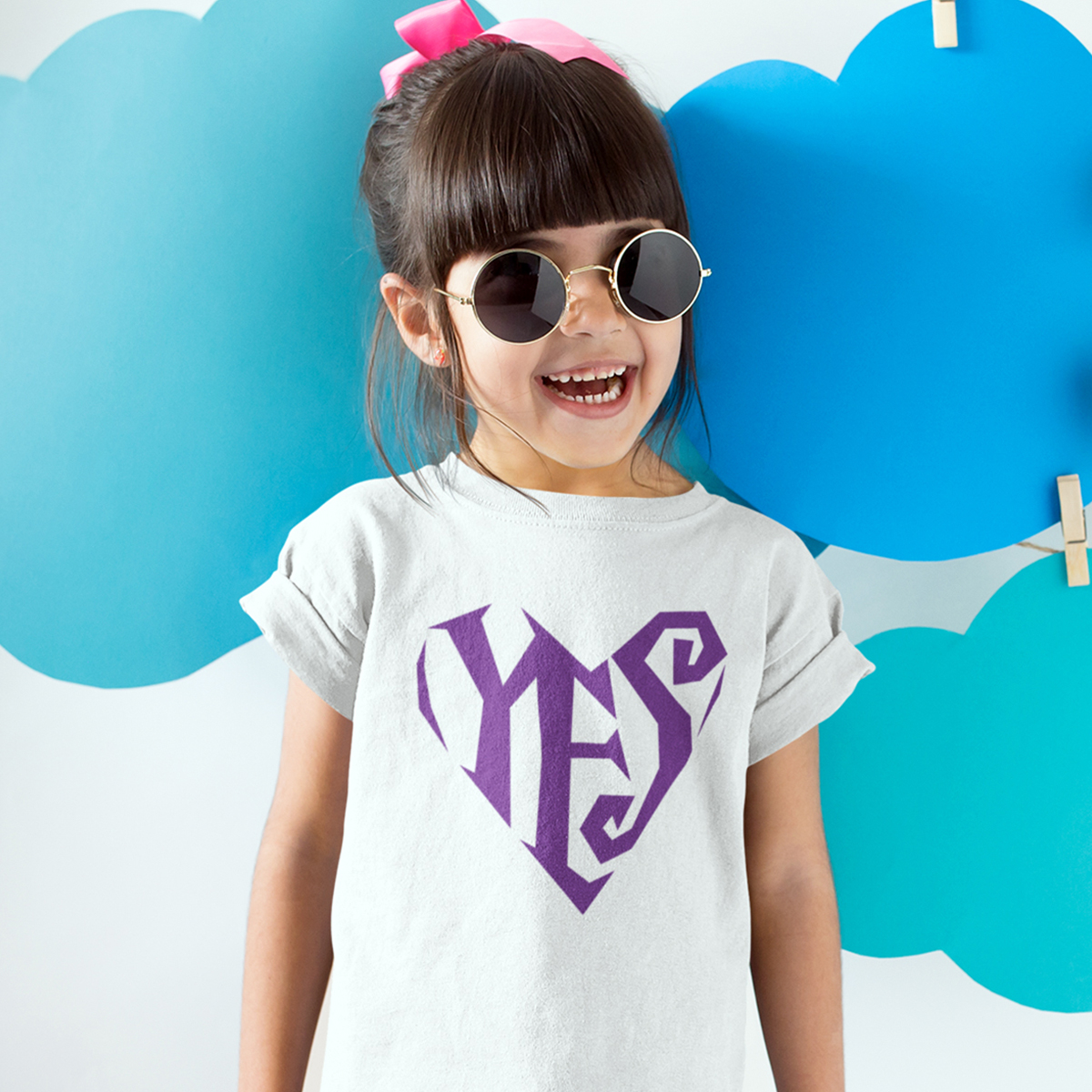 Yes/Heart Logo Kids' T-shirt