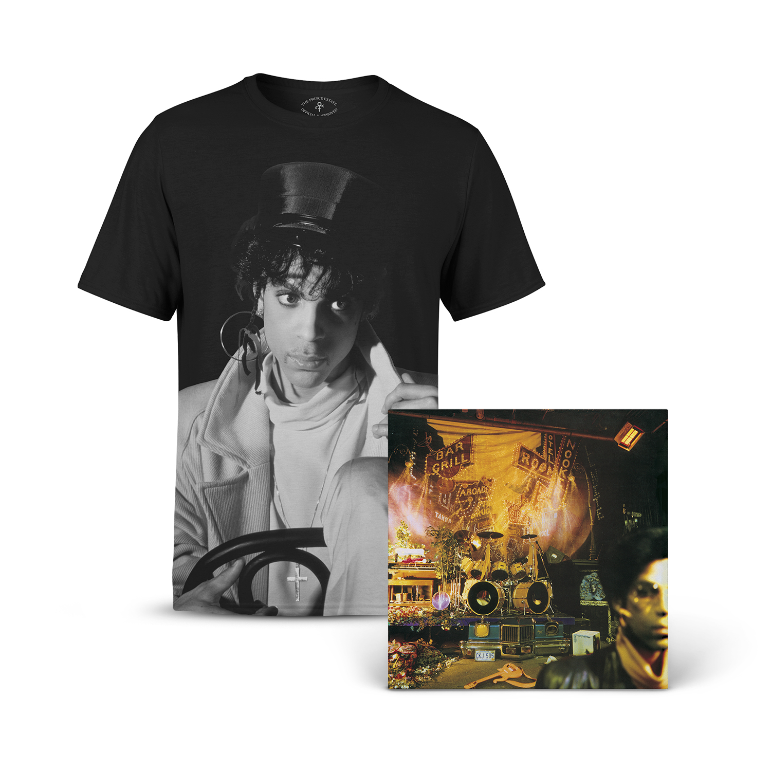 Sign O' The Times Remastered Edition & Portrait T-shirt Bundle