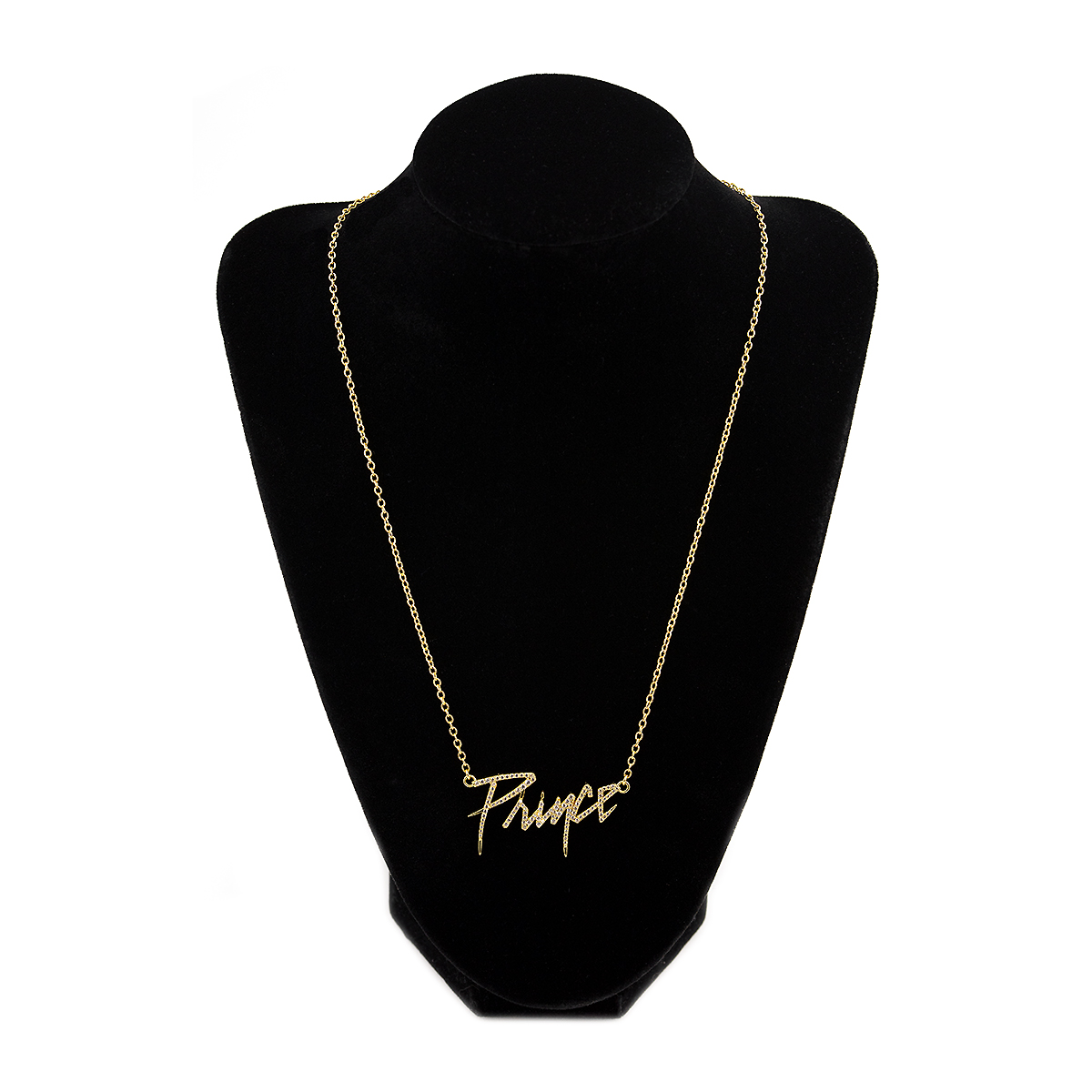 Prince Logo Necklace [Gold] with Crystal Embellishment