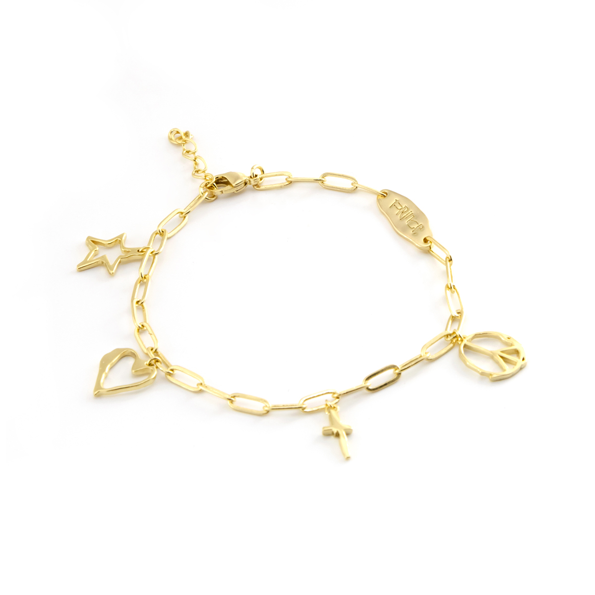 Sign O' The Times Charm Bracelet [Gold]